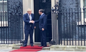 President Abdel Fatah al-Sisi met with British Boris Johnson Wednesday -  Press Photo