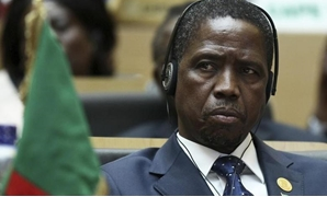 The Zambian head of state President Edgar Lungu attends the opening ceremony of the 24th Ordinary session of the Assembly of Heads of State and Government of the African Union (AU) at the African Union headquarters in Ethiopia's capital Addis Ababa, Janua