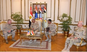 Defense Minister Mohamed Zaki and Chief of Staff of the Armed Forces Mohamed Farid meet with the United States Central Command chief Kenneth McKenzie in Cairo – Courtesy of the Egyptian military