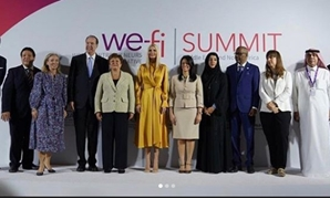 "Minister of International Cooperation Ranya al-Mashat during the ""Empowering Women Entrepreneurs"" session that was held in Dubai as part of the World Woman Forum 2020 - photo from the minister's official Twitter account"