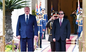 Egyptian President Abdel Fattah El-Sisi meets with Belarusian President Alexander Lukashenko in Cairo - Courtesy of the Egyptian Presidency