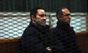 The two sons of Egypt's former President Hosni Mubarak, Alaa and Gamal - Press Photo