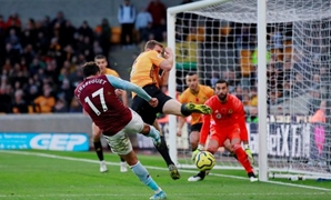Soccer Football - Premier League - Wolverhampton Wanderers v Aston Villa - Molineux Stadium, Wolverhampton, Britain - November 10, 2019 Aston Villa's Trezeguet scores their first goal Action Images via Reuters/Andrew Couldridge