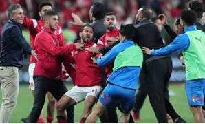 Clashes erupted between the players after the game