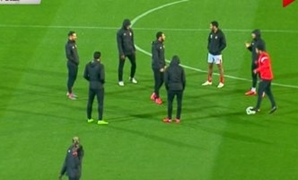 Al Ahly team on the Cairo Stadium pitch - FILE