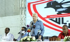 FILE - Zamalek club chairman Mortada Mansour