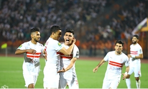 Zamalek players celebrate scoring against Esperance, photo courtesy of Zamalek Twitter