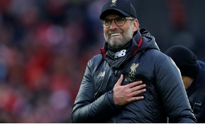Soccer Football - Premier League - Liverpool v Tottenham Hotspur - Anfield, Liverpool, Britain - March 31, 2019 Liverpool manager Juergen Klopp celebrates after the match REUTERS/Andrew Yates