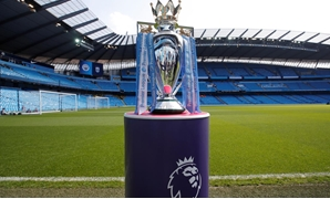 FILE PHOTO - Soccer Football - Premier League - Manchester City vs Huddersfield Town - Etihad Stadium, Manchester, Britain - May 6, 2018 The Premier League trophy is displayed before the match Action Images via Reuters/Carl Recine