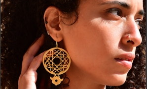 Brass earrings (350 EGP) handmade by women in the Qaitbey neighbourhood of historic Cairo - MISHKĀ brand