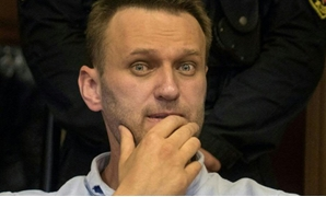 Russian jailed opposition leader Alexei Navalny attends a court hearing in Moscow on June 16, 2017- AFP